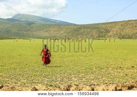 Young Masai Tribe