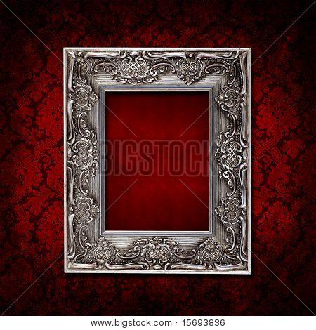 Dark red grungy vintage wallpaper