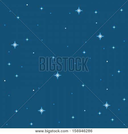 8-Bit Pixel Art Star Seamless Background Tile