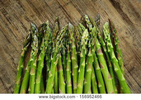 Extreme close-up image of fresh asparagus