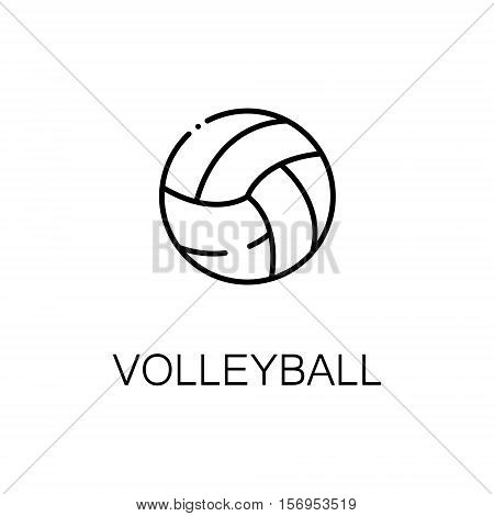 Volleyball flat icon. Single high quality outline symbol of sport for web design or mobile app. Thin line signs of Vvlleyball for design logo, visit card, etc. Outline pictogram of volleyball