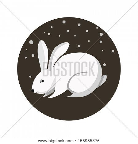 Rabbit of Chinese Zodiac signs. Rabbit or hare - original vector colorful icon. Chinese horoscope flat illustration. Isolated on background.