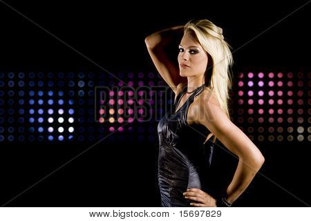 Beautiful woman at a night club