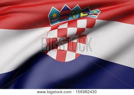 Republic Of Croatia Flag