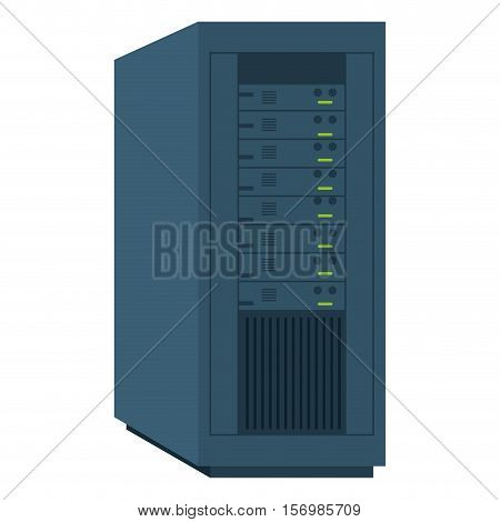 computer desktop server isolated icon vector illustration design