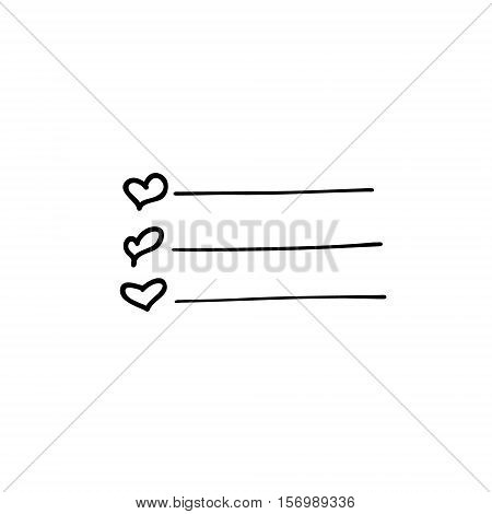 Check list vector icon. Hand drawn task list with check marks and check boxes . Outline. Doodle.