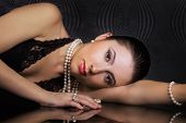 stock photo of beautiful lady  - Beauty in classic style - JPG