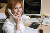 picture of programmers  - Woman at her work place - JPG