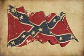 Confederate Rebel Grunge Flag Textured Background Wallpaper poster