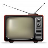 picture of tv sets  - Retro TV set realistic vector illustration - JPG
