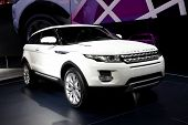 PARIS, FRANCE - SEPTEMBER 30: Paris Motor Show on September 30, 2010 in Paris, showing Range Rover E