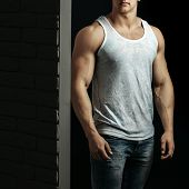 Sexy Muscular Man Athlete poster