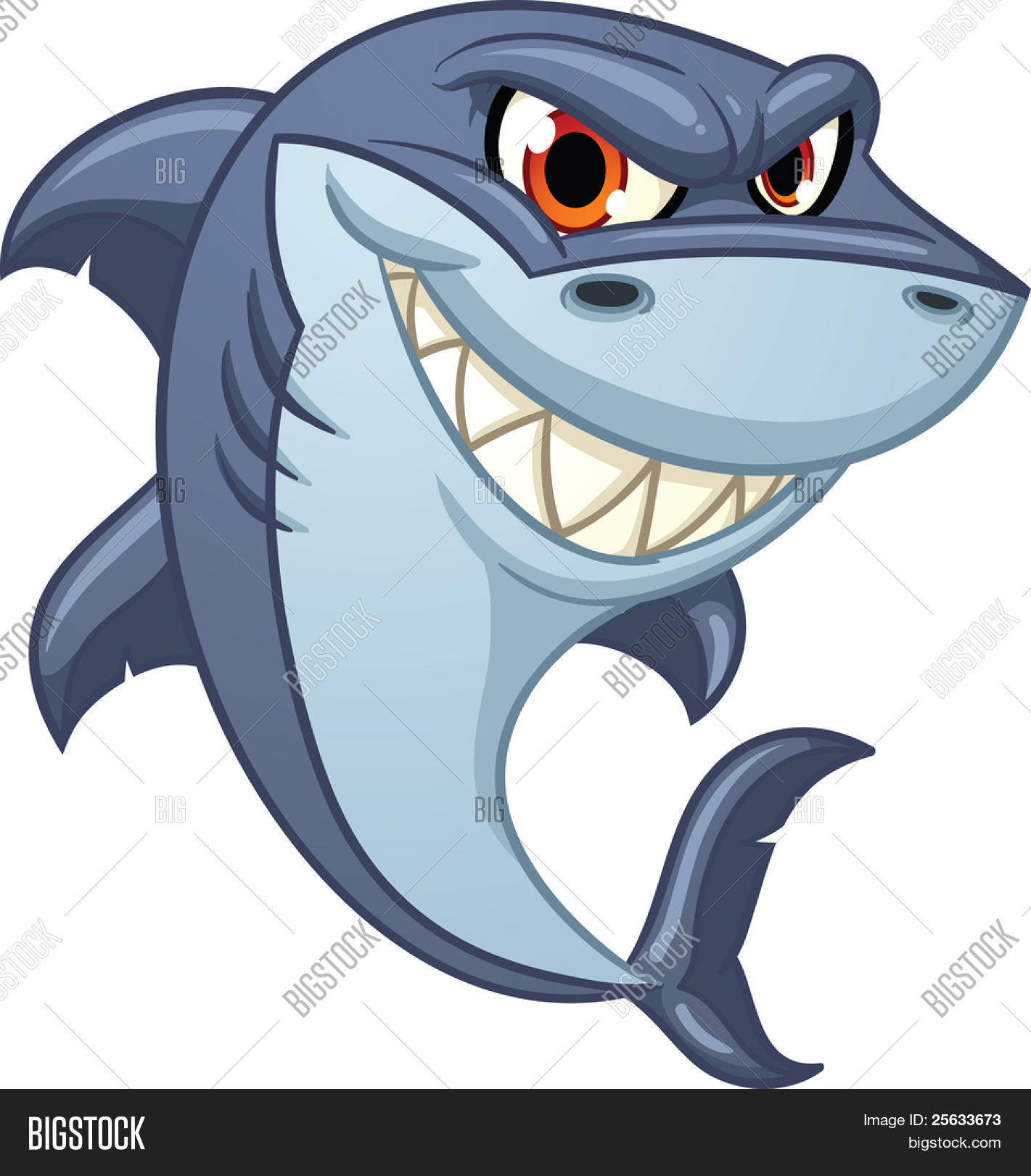 cool cartoon shark vector vector u0026 photo bigstock