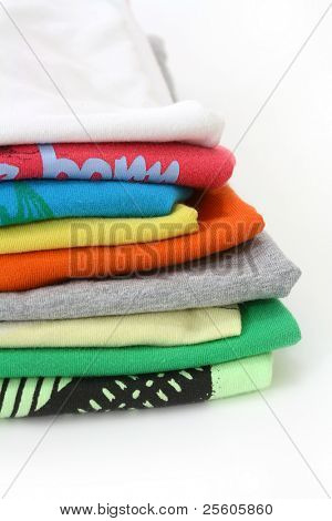 t shirts isolated on white