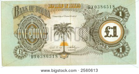 1 Pound Bill Of Biafra