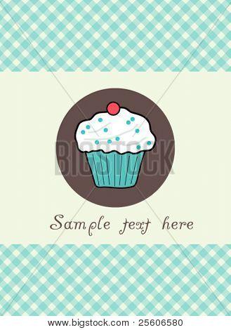 Beautiful vector muffin card