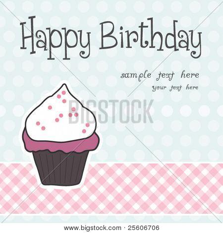 Beautiful vector Birthday muffin card