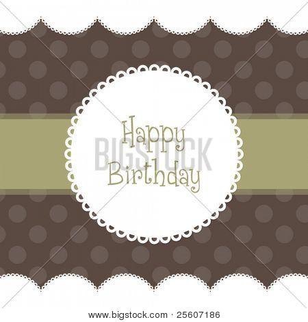 Beautiful vector Birthday card