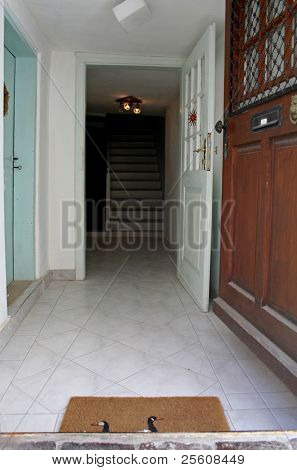 entrance to a homely house