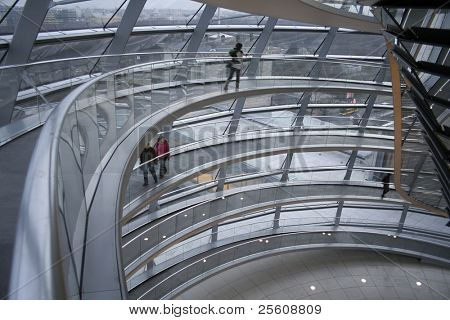 passage way up the reichstag, berlin, germany