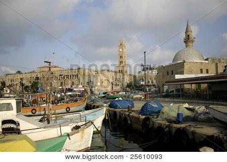 fishing harbour; in akko: israel