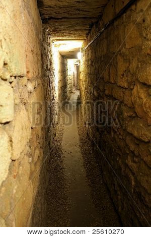 knight templer tunnel, akko, israel