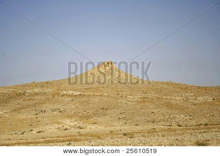 landscape scenery in sede boker desert, israel