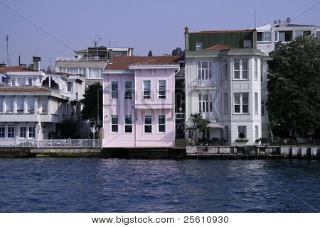 houses on the bosphorus, istanbul, turkey