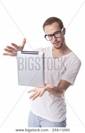 Good Looking Man With Tablet Computer