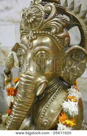 Ganesh Idol im Tempel, Delhi, Indien.