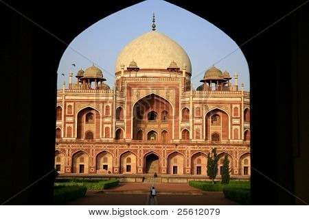 Entrance to Humayun's tomb in delhi, india