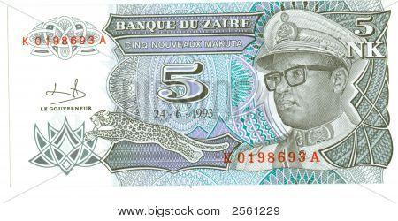 5 Nk Bill Of Zaire, 1993
