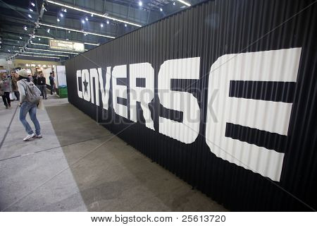 BERLIN - JANUARY 21:  Converse stand at Bread & Butter fair on January 21, 2011 in Berlin, Germany. Tens of thousands of visitors attended the tradeshow this year.