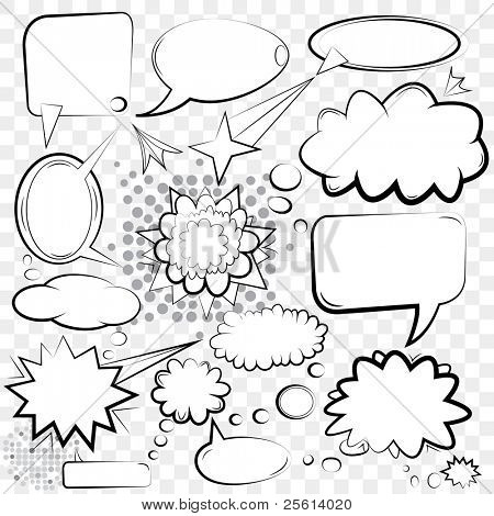Vector Bubbles Set