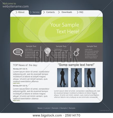 Vector website design,template