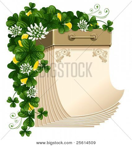 Tear-off paper calendar, Saint Patrick's Day