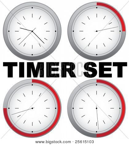 Set of vector timers with 15 min interval