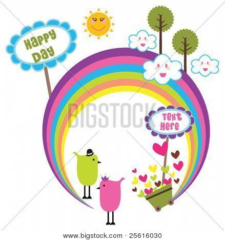 Happy rainbow design