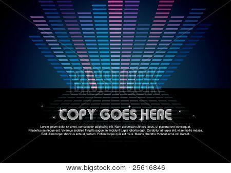 cool digital music background design