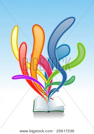 vector of colorful book