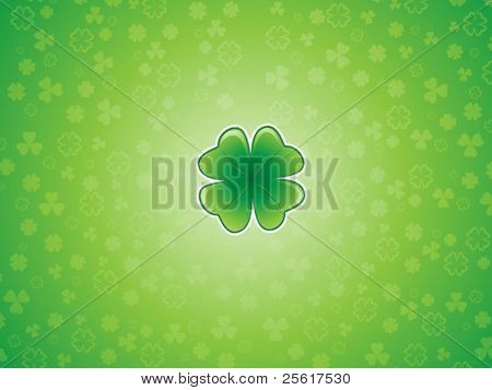 Lucky shamrock background illustration, St. Patrick's Day