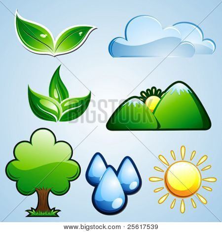 Set of nature/environment icons