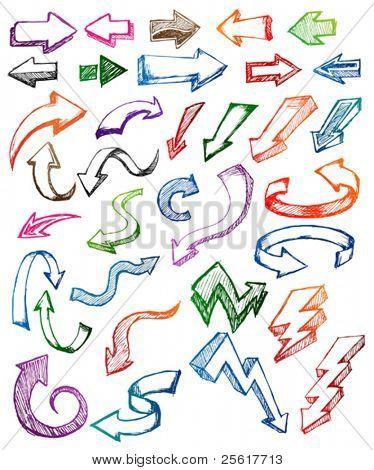 doodle de flecha