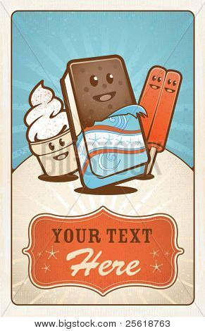 Ice Cream Treats Poster