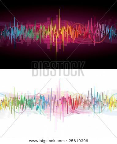 Colorful Sound Waves