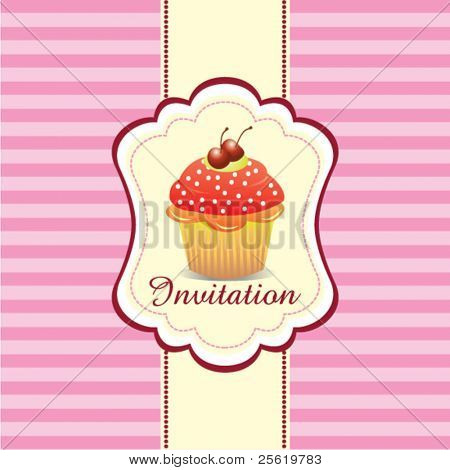 Cupcake Invitation Background 02