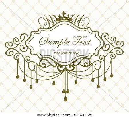 Luxury vintage frame