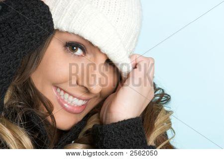 Sonriendo belleza de invierno