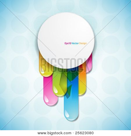 eps10 vector frame with multicolor lines design