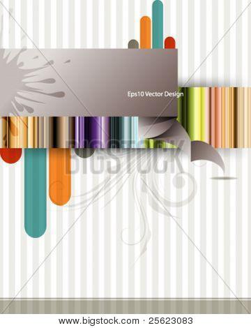 eps10 vector multicolor vintage design